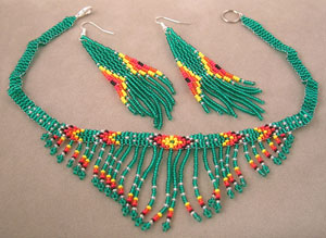 Native american contemporary beaded jewelry necklaces and for How to make american indian jewelry